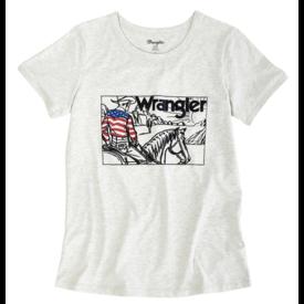 Wrangler Wrangler Ladies Short Sleeve Cowboy Screenprint Tee
