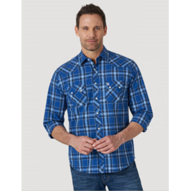 Wrangler Wrangler Men's Retro Long Sleeve Sawtooth Snap Pocket Western Shirt