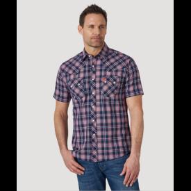 Wrangler Wrangler Men's Retro Short Sleeve Snap Pocket Plaid Shirt