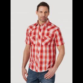 Wrangler Wrangler Men's Fashion Snap Short Sleeve Plaid Shirt