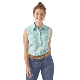 Wrangler Wrangler Ladies Sleeveless Western Snap Shirt