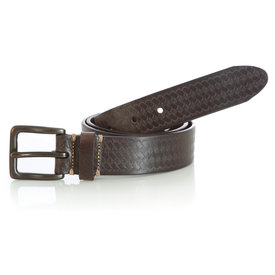 Wrangler Wrangler Men's Basketweave Chocolate Belt