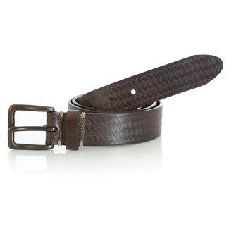Wrangler Wrangler Men's Basketweave Chocolate Belt