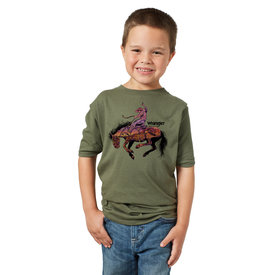 Wrangler Wrangler Boys Bronco Screenprint Tee
