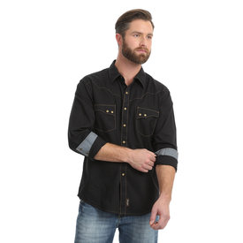Wrangler Wrangler Retro Long Sleeve Spread Collar Men's Shirt
