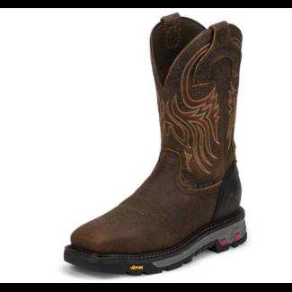 Justin Boots Justin Boots Driscoll Mahogany Waterproof Steel Toe