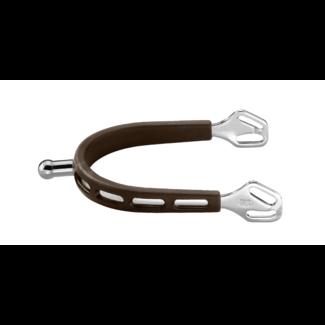 Herm Sprenger Herm Sprenger Ultra Fit Brown Grip 20 mm Ball Stainless Steel  Spurs