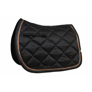 lettia Lettia Black with Rosegold Trim All Purpose Saddle Pad