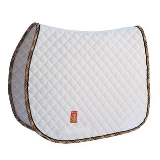 lettia Lettia White Baker All Purpose Saddle Pad