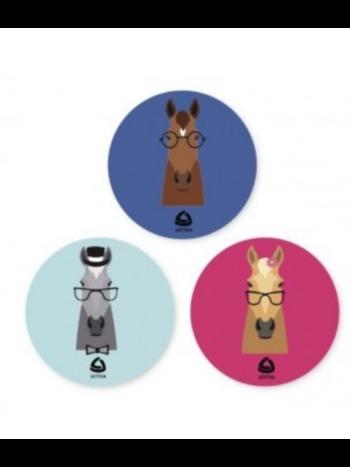 Lettia Lettia 3 Pack Hipster Horses Stickers