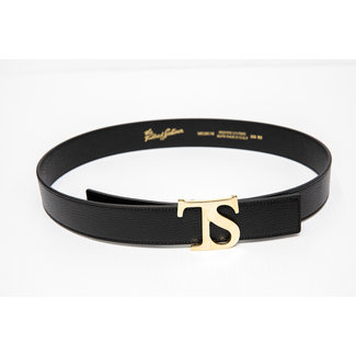 The Tailored Sportsman The Tailored Sportsman Sporty Leather Logo Belt