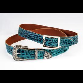 PHS Saddlery Inc PHS Saddlery Blue Ocean Croc Belt