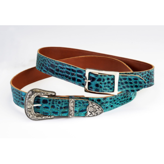 PHS Saddlery Inc PHS Saddlery Blue Ocean Croc Belt