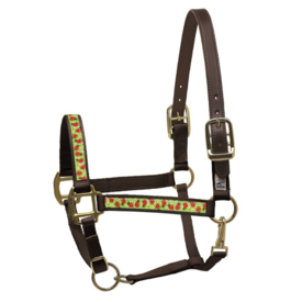 Perri's Leather Perri's Ribbon Pattern Nylon Safety Halter with Breakaway