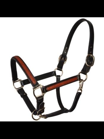 Perri's Leather Perri's Overlay Black/Brown Leather Halter