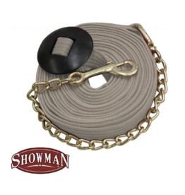 Showman Showman ®  25' flat cotton web lunge line with brass chain