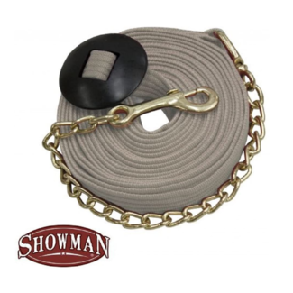Showman Showman ®  25' flat cotton web lunge line with brass chain