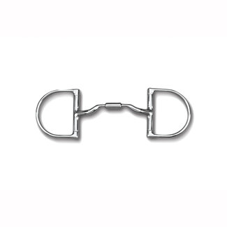 "Myler Myler Medium Dee without Hooks with Low Port Comfort Snaffle 5"" MB 04"