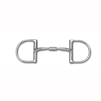"Myler Myler Dee without Hooks with Stainless Steel Comfort Snaffle Wide Barrel 4 3/4"" MB 02"