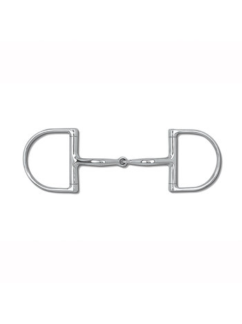 "Myler Myler Dee without Hooks with Stainless Steel Snaffle 5"" MB 09"