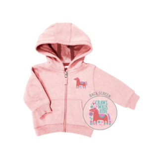 Farm Boy Brand Crawl Walk Ride Zip Up Hoodie