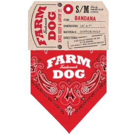 Farm Dog Collar Red Large