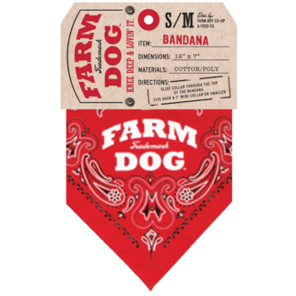 Farm Dog Collar Red Large