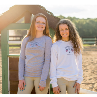 Equestrian Prep Equestrian Prep Adult Crossed Flags Long Sleeve