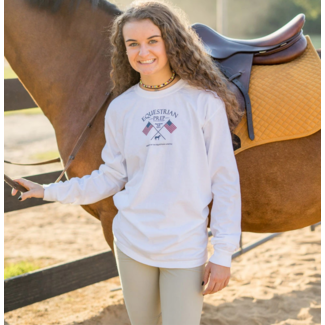 Equestrian Prep Equestrian Prep Adult Flags Crossed Long Sleeve