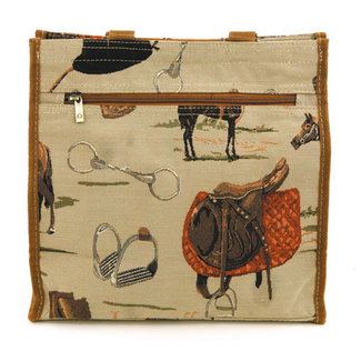 Equestrian Tapestry Shopper Bag