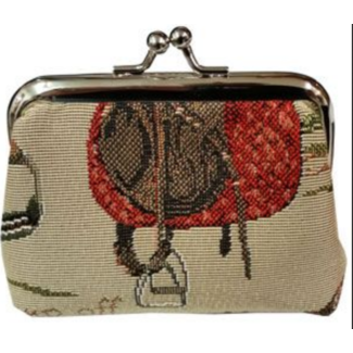 Equestrian Tapestry Coin Purse
