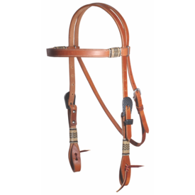 Professionals Choice Professional's Choice Browband Headstall Rawhide/Black