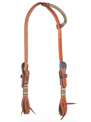 Professionals Choice Professional's Choice Round Ear Headstall with Rawhide/Black