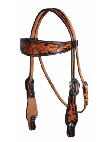 Professionals Choice Professional's Choice Chocolate Floral Browband Headstall