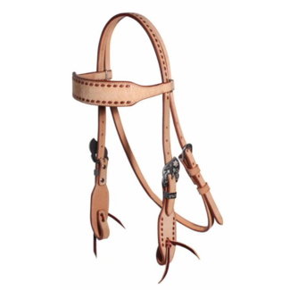 Professionals Choice Professional's Choice Latigo Buckstitced Roughout Browband Headstall
