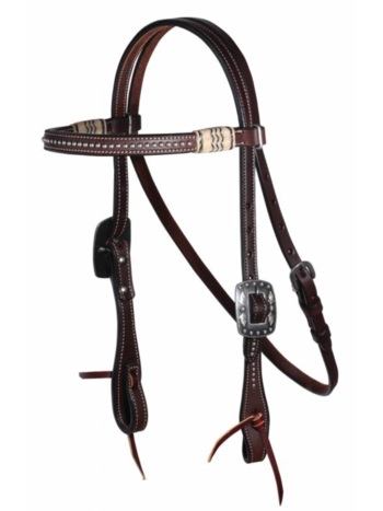 Professionals Choice Professional's Choice Black Rawhide Dotted Browband Headstall
