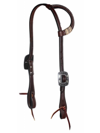 Professionals Choice Professional's Choice Black Rawhide Dotted One-Ear Headstall