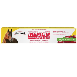 DURVET/EQUINE           D Ivermectin Dewormer Paste Apple Flavor