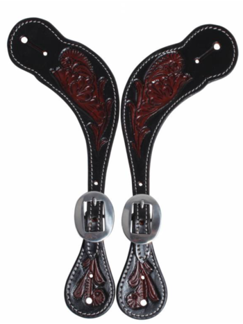 Professionals Choice Professional's Choice Floral Spur Strap Black