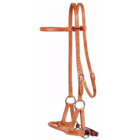 Professionals Choice Professional's Choice Round Leather Nose Side Pull