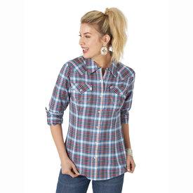 Wrangler Wrangler Ladies Long Sleeve Western Snap Shirt