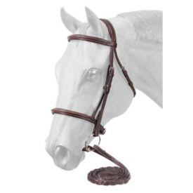 Equiroyal Premium Padded Fancy Stitched Raised English Bridle - Full