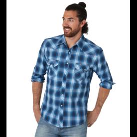 Wrangler Wrangler Men's Retro Modern Fit Long Sleeve Snap Shirt