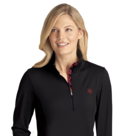 ROMFH Romfh Ladies Aachen Mock Zip Long Sleeve Shirt
