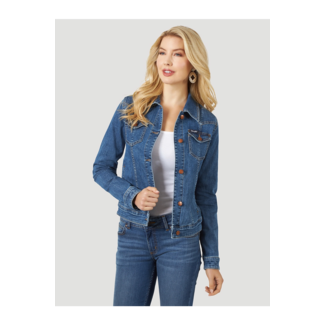 Wrangler Wrangler Ladies Long Sleeve Classic Fit Denim Jacket