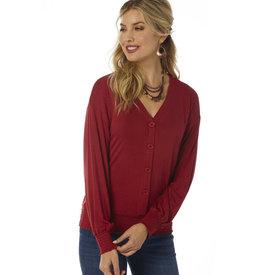 Wrangler Wrangler Knit Button Up Long Sleeve Top