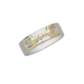 AWST AWST Two Tone Sterling Silver Snaffle Bit Ring