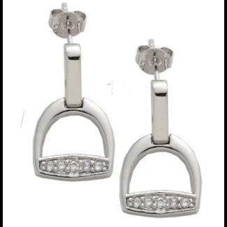 AWST AWST Stirrup Post Rhodium Earrings