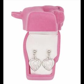 AWST AWST Horse Head Heart  Earrings w/Gift Box