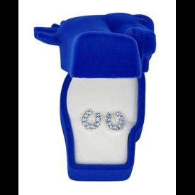 AWST AWST Rhinestone Horseshoe Earrings with Horse Head Gift Box